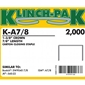 Klinch-Pak K-A78 C-Crown Copper Staples 7/8 inch - Case Pack