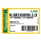 Klinch-Pak K-SB103020 - 1/2 inch Galvanized Staple - Case Pack