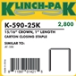 Klinch Pak - K-590-25  1 inch Staples - Case