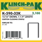 Klinch Pak - K-590-32  1 1/4 inch Staples - Case
