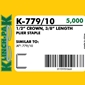 Klinch-Pak K-779/10 3/8 inch Galvanized Staples