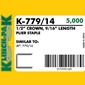 Klinch-Pak K-779/14 Galvanized Staples - 9/16 inch