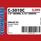 Complete C-5016C 20 Gauge Staples Duo-Fast 50 Type Staples - 1/2 inch - Case