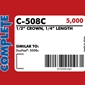 Complete C-508C 20 Gauge Staples Duo-Fast 50 Type Staples - 1/4 inch- Case
