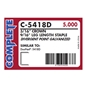 Complete - C-5418D-GOLD - DF 54 9/16 inch Gold Crown Staples