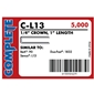 "Complete C-L13 18 Gauge, 1/4"" Narrow Crown Staples"
