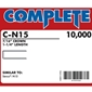 "Complete C-N15 16 Gauge, 7/16"" Medium Crown Staples"