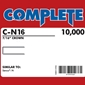 "Complete C-N16 16 Gauge 7/16"" Medium Crown Staples - 1 3/8 inch"