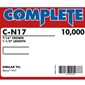 "Complete C-N17 16 Gauge, 7/16"" Medium Crown Staples"