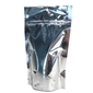 5 x 8.5 3mil Silver Stand Up Pouch with Hang Hole and Tear Notch