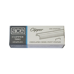Ace 70001 1/4 inch Undulated Staples - 5 Pack
