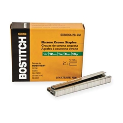"Bostitch SX50351/2 18 GAUGE NARROW CROWN STAPLES 7/32"" CROWN 1/2"" LEG"