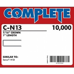 "Complete C-N13 16 Gauge, 7/16"" Medium Crown Staples"
