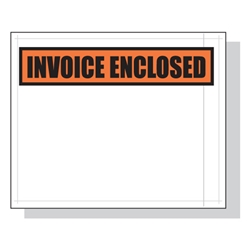 4.5 x 5.5 Invoice Enclosed Packing List Envelope