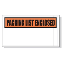 5.5 x 10 Printed Packing List Envelope