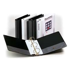 3-RING Clear Overlay Binders 1-1/2 inch Capacity - round ring