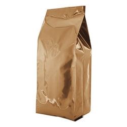 5lb (2.2kg)  Foil Gusseted Bags - WITH VALVE - Copper