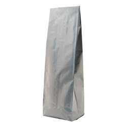 12-16oz. (450g) Side Seal Foil Gusseted Bags - Silver