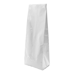 12-16oz. (450g) Side Seal Foil Gusseted Bags - White