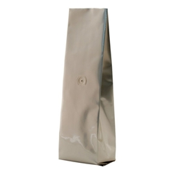 12-16oz. (450g) Side Seal Foil Gusseted Bags - WITH VALVE - Champagne
