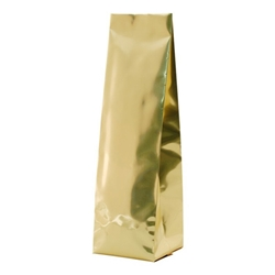 6-10oz. (225g) Side Seal Foil Gusseted Bags - Gold