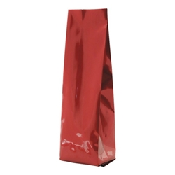 6-10oz. (225g) Side Seal Foil Gusseted Bags - Red