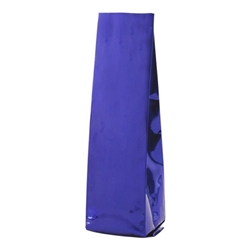 6-10oz. (225g) Side Seal Foil Gusseted Bags - Blue
