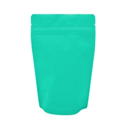 16oz (450g) Stand Up Pouch Zip Pouches – Matte Turquoise with Valve