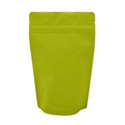 4oz (110g) Stand Up Pouch Zip Pouches – Matte Green with Valve