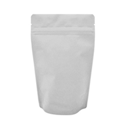 4oz (110g) Stand Up Pouch Zip Pouches – Matte White with Valve