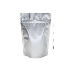 4lb (110g) Metallized Stand Up Pouch Zip Pouches – SILVER