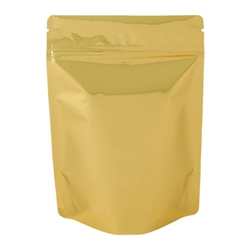 8oz (225g) Metallized Stand Up Pouch Zip Pouches – GOLD