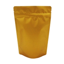 8oz (225g) Metallized Stand Up Pouch Zip Pouches with Valve – Matte Gold