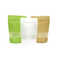 8oz Rice Paper Stand Up Pouch with Window