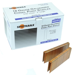 Spotnails 5648PG10M 16 Gauge Intermediate Crown Staples - 1 1/2 inch
